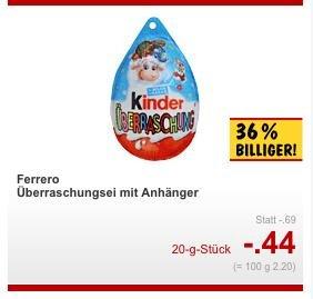 Kaufland (Berlin): Kinder Ü-Ei für 0,44€
