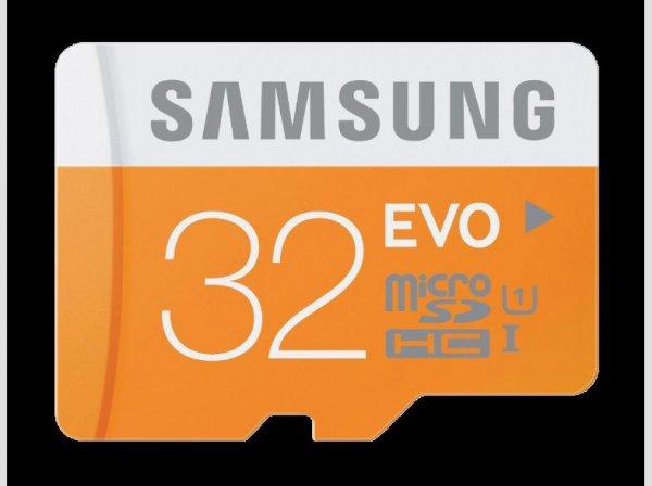 Samsung microSDHC EVO 16GB für 9€ / 32GB für 14€ / 64GB für 27€