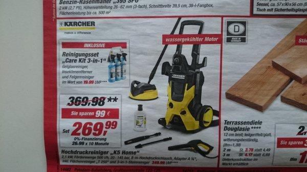 Kärcher Hochdruckreiniger K5 Home Toom Baumarkt Bundesweit 269,99€