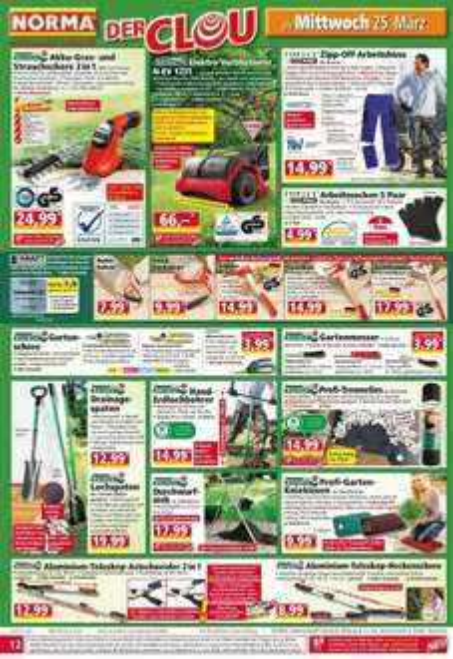 [NORMA] Lokal Forstbedarf Sappie 14,99 € und andere Geräte