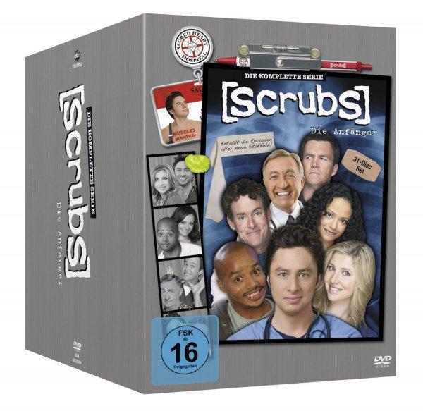 [Amazon.de] Scrubs: Die Anfänger - Die komplette Serie, Staffel 1-9 (31 DVDs) für 35,97€ inkl. Versand