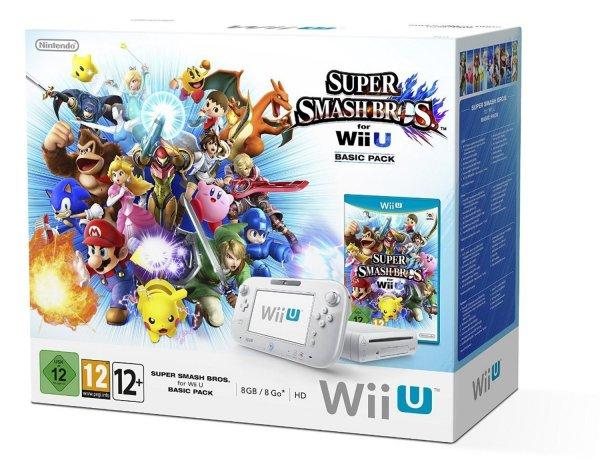 Nintendo Wii U 8GB + Super Smash Bros. [amazon fr]