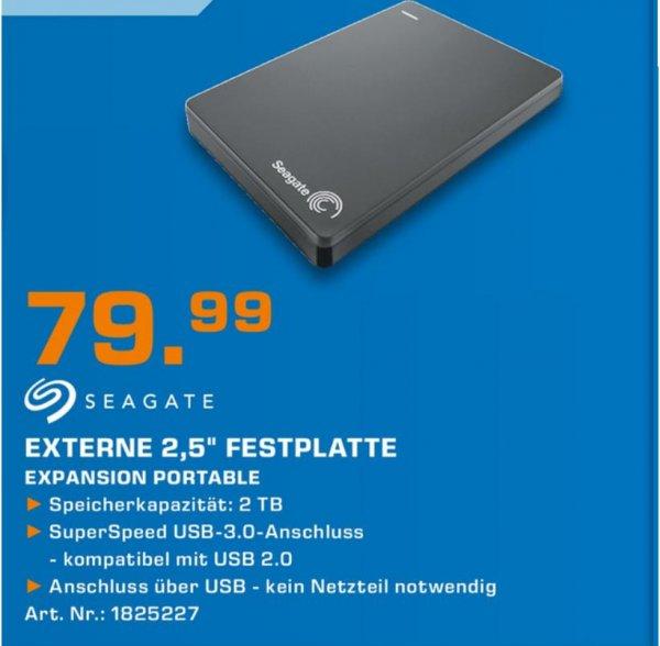 """[Lokal?] Seagate Expansion Portable externe 2,5"""" 2TB Festplatte (kompatibel für Playstation 4) @Saturn Köln"""