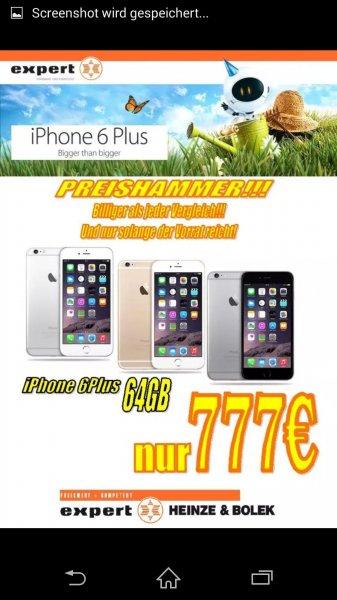(Lokal)IPhone 6 Plus 64 GB bei Expert Heinze & Bolekfür 777 Euro in mehreren Farben.