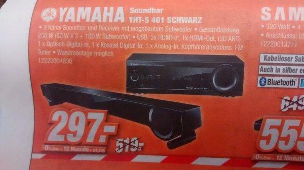 [expert klein] yamaha YHT-S 401 soundbar mit subwoofer  297€ // amazon jetzt 359€, idealo 375€