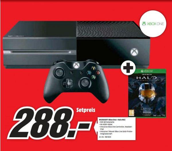 [Lokal Mediamarkt Neu-Ulm] Microsoft Xbox One 500GB + Halo: The Master Chief Collection für 288,-€ ab 19.03
