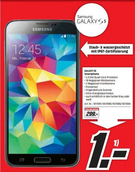 [Lokal Mediamarkt Neu-Ulm] Samsung Galaxy S5 Blau,Weiß,Schwarz für 299,-€ ab 19.03.