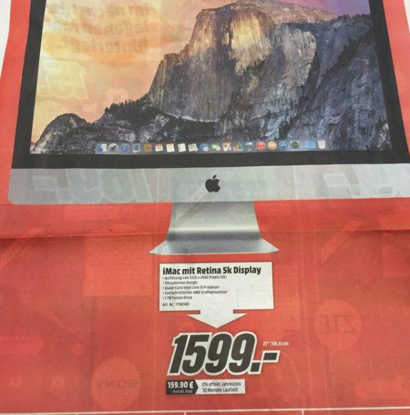 """[Sulzbach] iMac 27"""" 5K im MediaMarkt MTZ"""