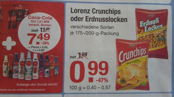 [V-Markt] Lorenz Erdnusslocken / Crunchips 0,99 € vom 19.03. - 25.03