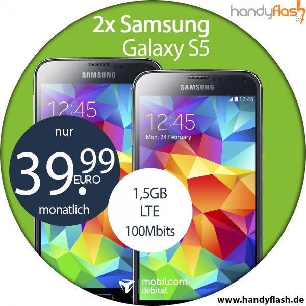 Mobilcom Vodafone RED 1,5GB LTE bis zu 100Mbits 39,99 € / Monat + 2 x Samsung Galaxy S5 Zuzahlung 99€ oder Mit Sony Playstation 4 zu 119 € Zuzahlung