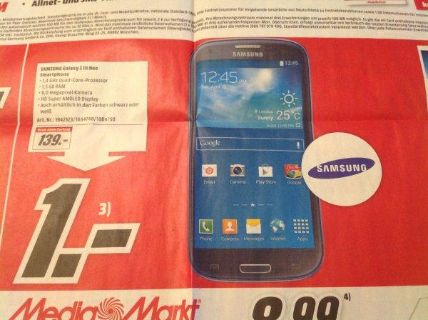 Samsung S3 neo bei Media-Markt neu-Ulm für 139