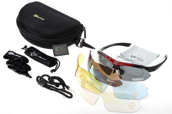 RockBros Sport Sonnenbrille Polarisiert 100% UV Schutz mit viel Zubehör für 13,60€ @ Banggood
