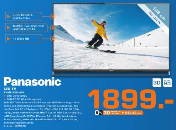 [Lokal - Saturn Hamburg] - Panasonic TX-58AXW804 - 1.899,00 EUR