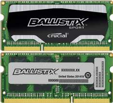 Amazon WHD Crucial 16 GB Ballistix BLS2C8G3N169ES4CEU (8GBx2) DDR3 PC3-12800 Unbuffered NON-ECC