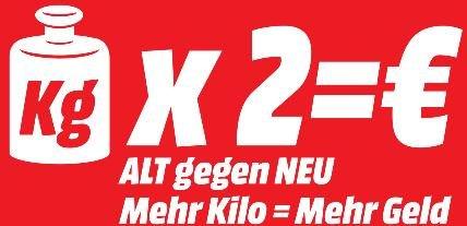 [LOKAL JENA] Mediamarkt Fernseher-'ALT gegen NEU'-Aktion, Gutschein in Höhe von 2€/kg des Altgerätes
