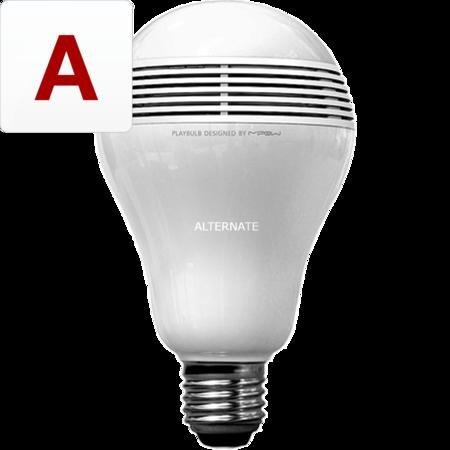 Sparsame LED-Lampe MiPow Playbulb E27 mit Bluetooth Lautsprecher