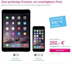 MagentaMobil M minus Ipad 3 LTE 16GB minus Iphone 6 64GB für effektiv EUR 26,58 mt
