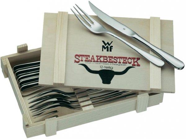 WMF Steakbesteck 12-teilig in Holzkiste für 27€ @Voelkner