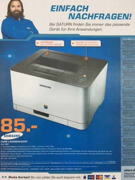 (Lokal) Saturn Berlin & Potsdam Samsung CLP 365 Farblaserdrucker für 85€