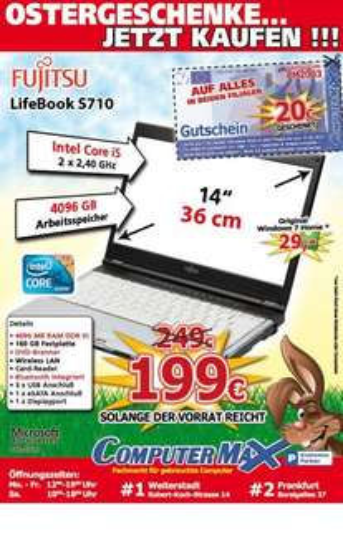 [Lokal] Lifebook S710 Core i5  für 179€