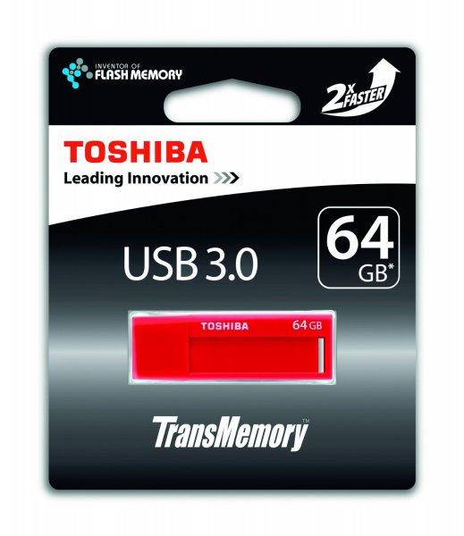[Ebay-Cyberport] Toshiba TransMemory USB-Stick Red rot 64GB, USB 3.0, Lesen: 70 MB/s, Schreiben: 20 MB/s