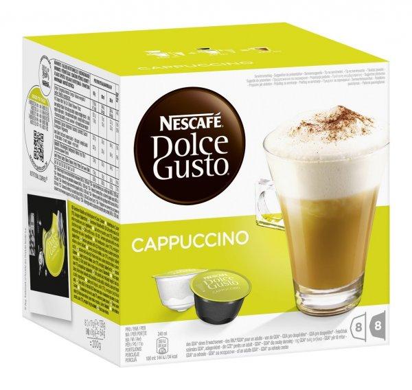 Amazon.de Nescafé Dolce Gusto Cappuccino/ Latte/ Latte Caramel/ Nesquik, 3er Pack (48 Kapseln)