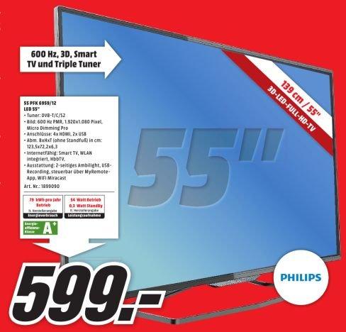 [lokal] Mediamarkt Weiterstadt: Philips 55 PFK 6959 LED TV für 599 €