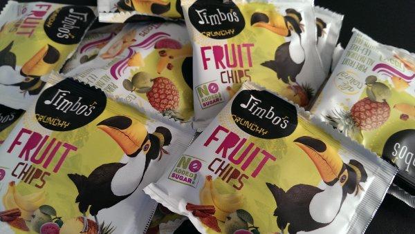 Jimbos Trocken Frucht Chips Gratis Muster - für Deutschland noch nicht lieferbar  siehe unteren Teil