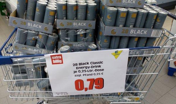 28 Black Classic (Schwarze Dose) Energy Drink  0,79€ + Pfand [Lokal Berlin Tempelhof]