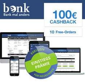 [Qipu] benk Konto mit 10 Free Orders und 100€ Cashback