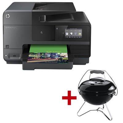 HP Officejet Pro 8620 NFC-fähiger e-All-in-One-Drucker + Weber Smokey Joe Premium + 1 kg Haribo Goldbären für 215,37€ @ Office Discount