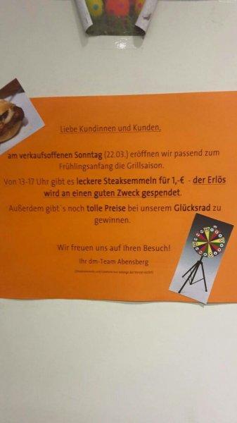 DM Abensberg Steaksemmel für 1€ und Glücksrad