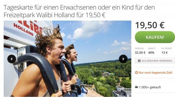 [Groupon] Tageskarte für den Freizeitpark Walibi Holland für 19,50 EUR