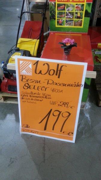 Wolf Benzinrasenmäher Select 4600 A im Hornbach Worms für 199€