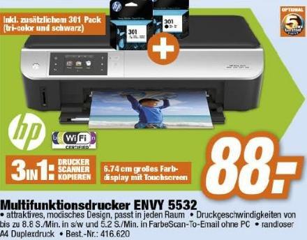 [Bayern] Multifunktionsdrucker HP ENVY 5532 inkl. 2 zusätzlichen Patronen