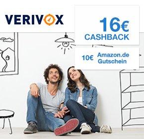 Verivox: 16€ Cashback + €10 Amazon.de-Gutschein*