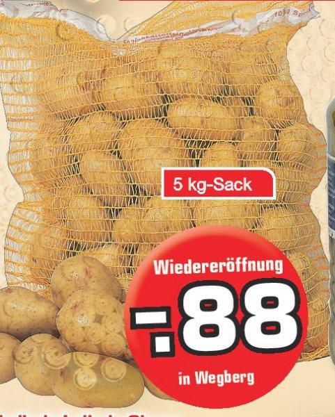 [EDEKA Endt Wegberg] 5 Kg Kartoffeln Cilena für 0,88€ (am 24. 03)