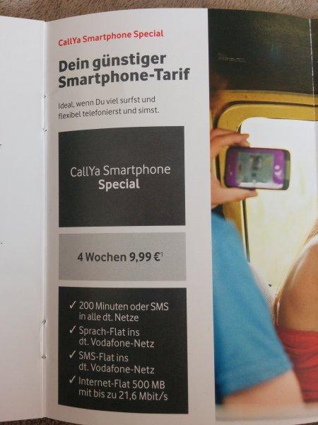 Vodafone CallYa Smartphone Spezial @Ebay