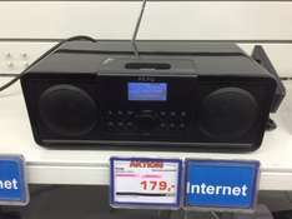 Peaq internet Radio mit dab+ Apple Dock und Bluetooth Tages Angebot bei Saturn Sankt Augustin