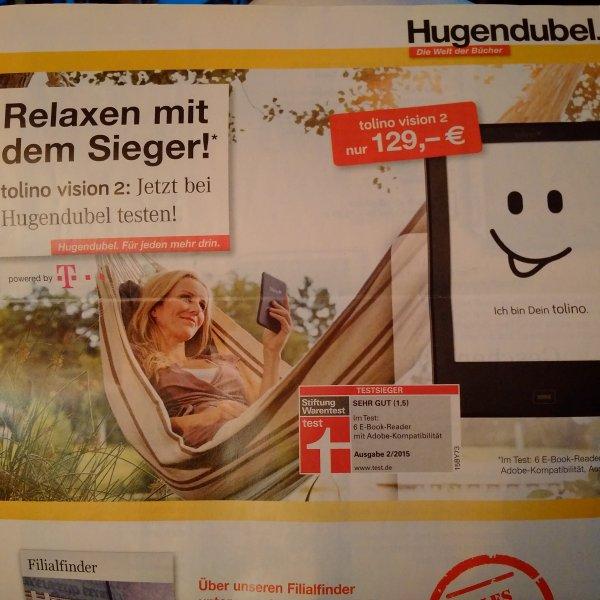 Tolino Vision 2 für 109€ bei Hugendubel vom 07.04 - 18.04