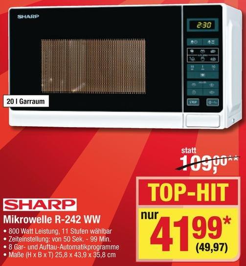 METRO - Microwelle R-242WW von Sharp