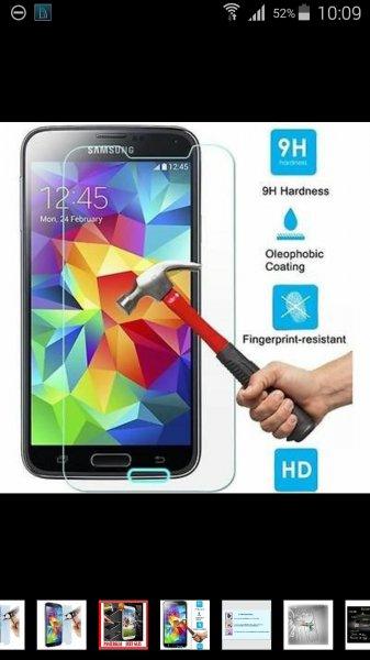 Panzerglas Schutzglas für Galaxy S5 oder S4
