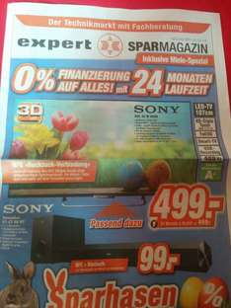 [Lokal Expert] Sony KDL W 805B für 499,-