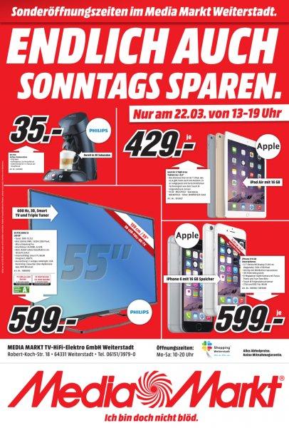 (MM Weiterstadt) Apple iPhone 6 16GB 599,- € // iPad Air 2 16GB 429,- €