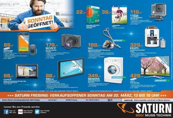 [ Saturn Freising ] verkaufsoffener Sonntag 22.03. Galaxy S3 mini 88€ uvm.