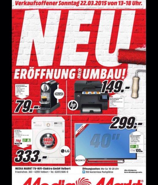 Media Markt Velbert verkaufsoffener Sonntag 22.03.15 HP Color LaserJet Pro M177fw 149€