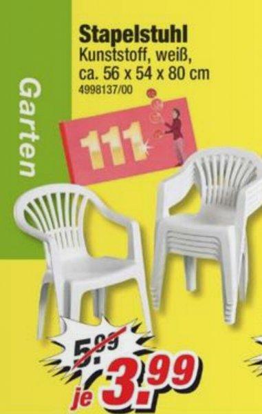 stapelbarer Gartenstuhl für 3,99€/Stück bei Poco
