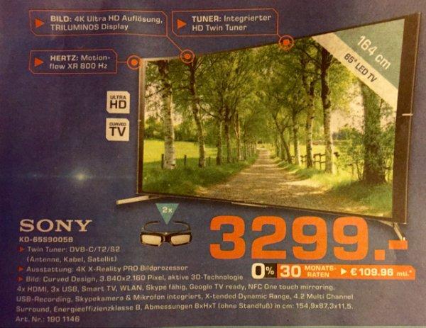 Lokal [Saturn Göttingen] Sony KD 65s9005 BBAEP Curved UHD (4K)