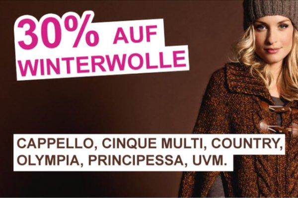 Lana Grossa Wolle aus der letzten Winter Kollektion mit 30% Rabatt