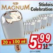 [Zimmermann] Magnum 20er Pack Celebration Stieleis für 5,99